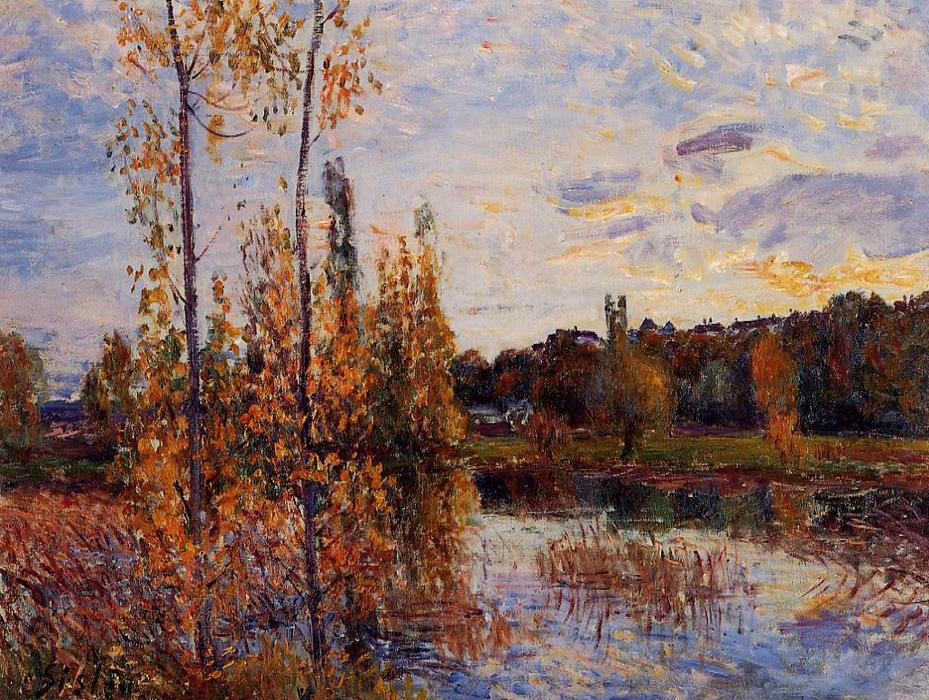 L Etang de Chevreuil, Oil On Canvas by Alfred Sisley (1839-1899, France)