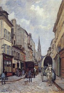 Alfred Sisley - La Grand Rue, Argenteuil