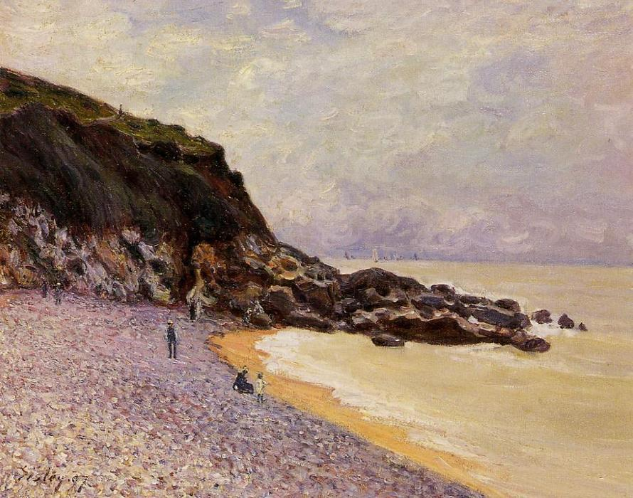 Lady s Cove before the Storm (Hastings), Oil On Canvas by Alfred Sisley (1839-1899, France)