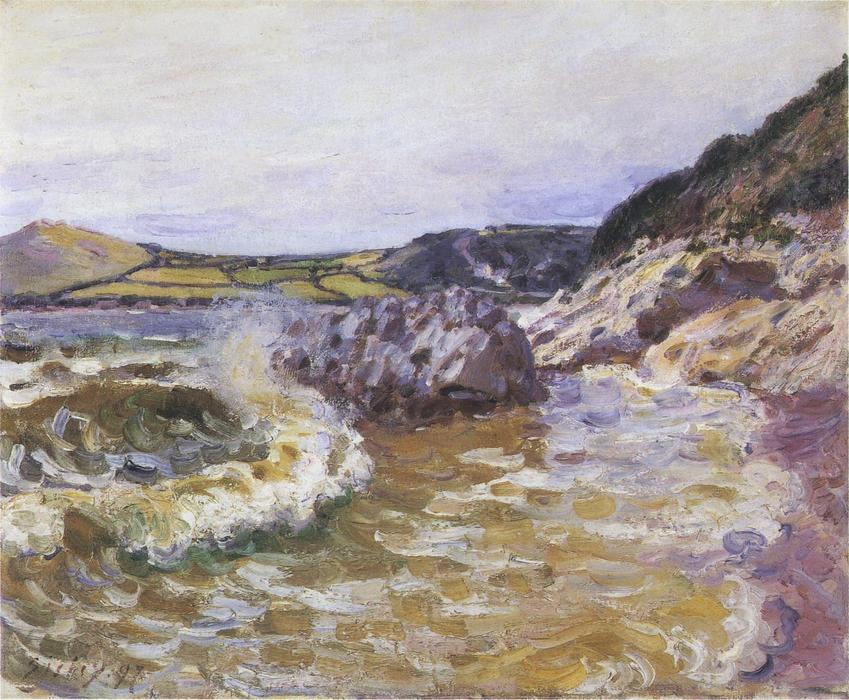 Lady s Cove, Oil On Canvas by Alfred Sisley (1839-1899, France)