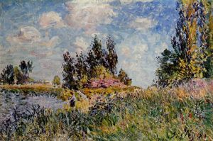 Alfred Sisley - Landscape The Banks of the Loing at Saint Mammes