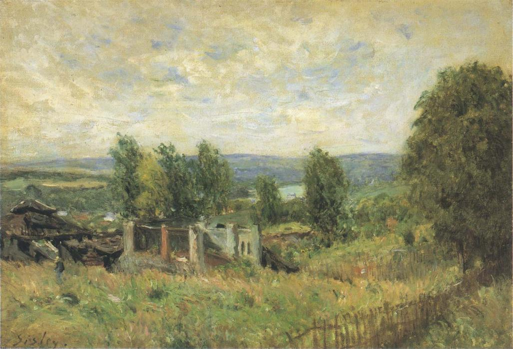 Landscape in Summer, Oil On Canvas by Alfred Sisley (1839-1899, France)