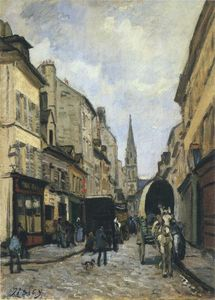 Alfred Sisley - Main Street in Argenteuil