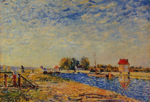 Alfred Sisley - Morning Sun, Saint Mammes
