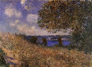 Alfred Sisley - Near the Bank of the Seine at By