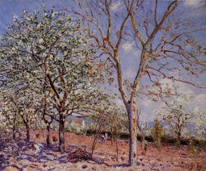 Alfred Sisley - Plum and Walnut Trees in Spring