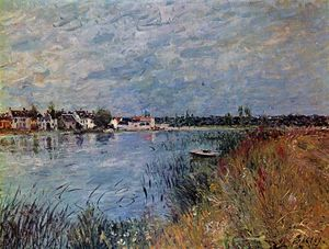 Alfred Sisley - Riverbank at Saint Mammes