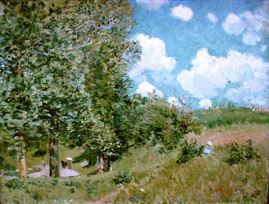 Road from Versailles to Saint Germain, Oil On Canvas by Alfred Sisley (1839-1899, France)