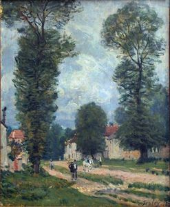Alfred Sisley - Route to Versailles