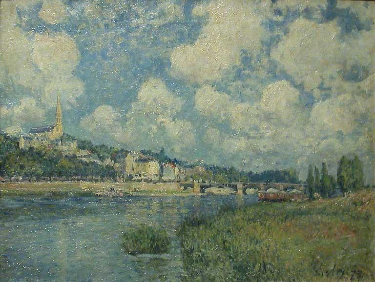 Saint Cloud, Oil On Canvas by Alfred Sisley (1839-1899, France)
