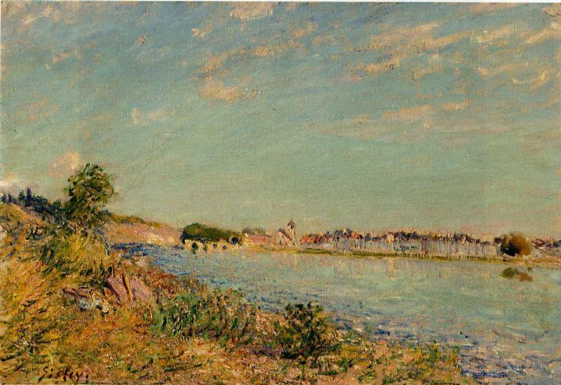 Saint-Mammes 1, Oil by Alfred Sisley (1839-1899, France)
