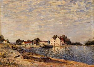 Alfred Sisley - Saint-Mammes, on the Banks of the Loing