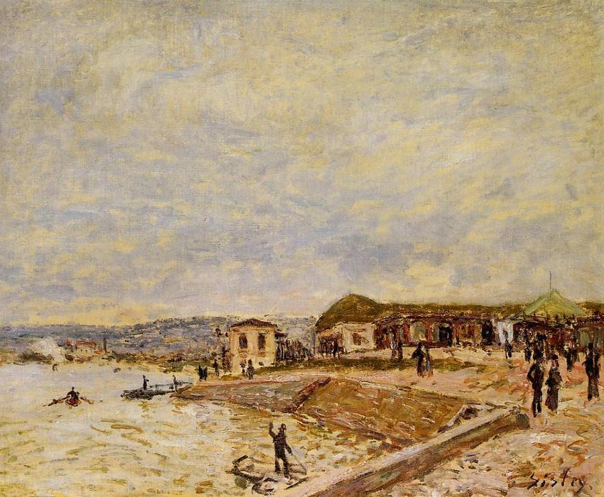 Seine at Daybreak, Oil On Canvas by Alfred Sisley (1839-1899, France)