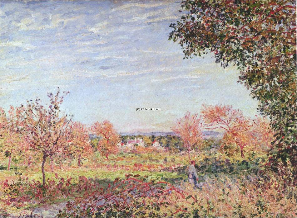 September Morning, 1887 by Alfred Sisley (1839-1899, France) | Painting Copy | WahooArt.com