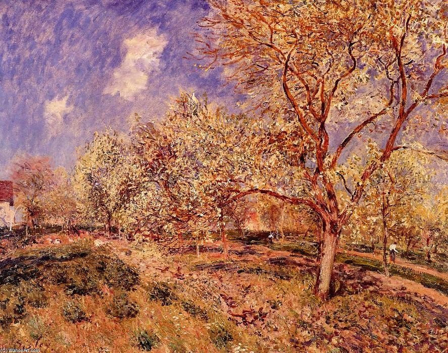 Spring at Veneux, Oil On Canvas by Alfred Sisley (1839-1899, France)