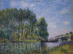 Alfred Sisley - Spring on the Loing River