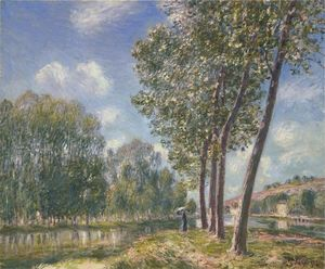 Alfred Sisley - Spring Sunshine on the Loing