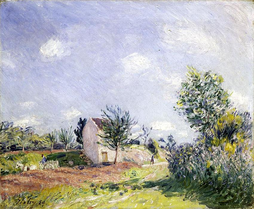 Springtime, 1889 by Alfred Sisley (1839-1899, France)