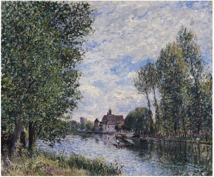 Summer in Moret, Oil On Canvas by Alfred Sisley (1839-1899, France)