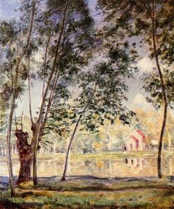 Alfred Sisley - Sunny Afternoon Willows by the Loing