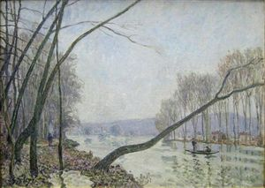 Alfred Sisley - The Banks of the Seine in Autumn
