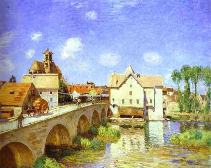The Bridge at Moret, Oil On Canvas by Alfred Sisley (1839-1899, France)
