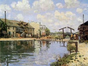 Alfred Sisley - The Canal Saint Martin