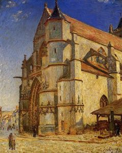 Alfred Sisley - The Church at Moret in Morning Sun