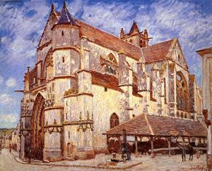 Alfred Sisley - The Church at Moret, Afternoon