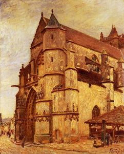 Alfred Sisley - The Church at Moret, Rainy Morning