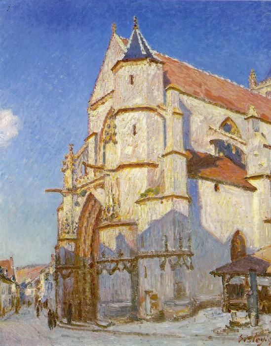 The Church at Moret, Oil On Canvas by Alfred Sisley (1839-1899, France)