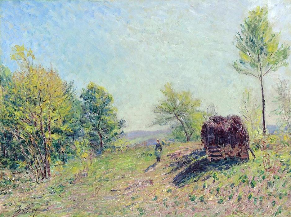 The Edge of the Forest, 1886 by Alfred Sisley (1839-1899, France) | Art Reproduction | WahooArt.com
