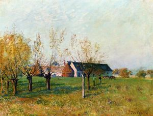 Alfred Sisley - The Farm at Trou d Enfer, Autumn Morning