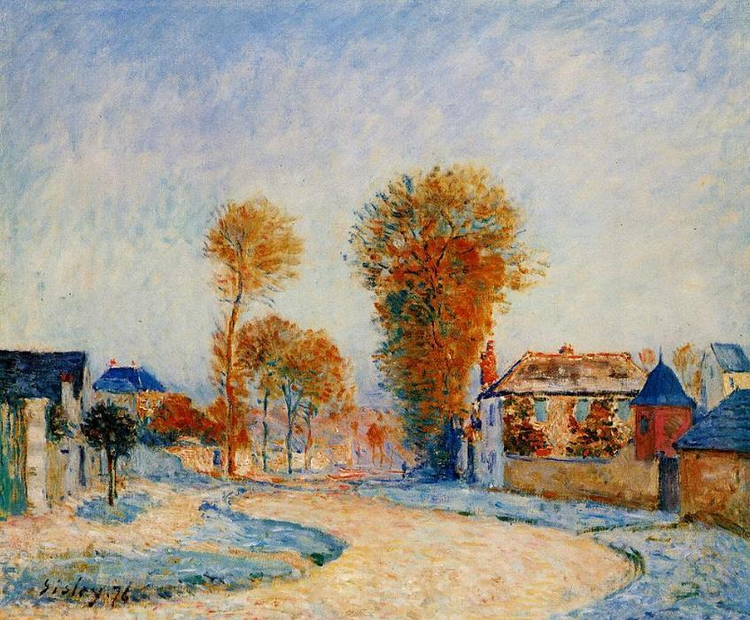 The First Hoarfrost, Oil On Canvas by Alfred Sisley (1839-1899, France)