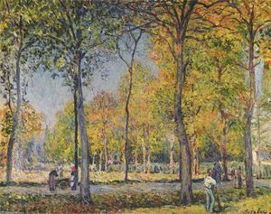 Alfred Sisley - The Forest at Boulogne