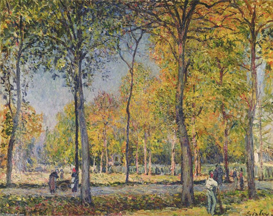 The Forest at Boulogne, Oil On Canvas by Alfred Sisley (1839-1899, France)