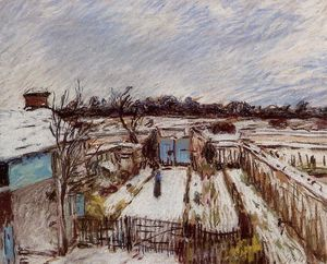 Alfred Sisley - The Garden under the Snow