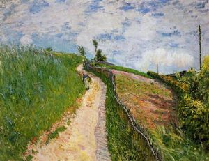 The Hill Path, Ville d Avray, Oil On Canvas by Alfred Sisley  (order Fine Art painting copy Alfred Sisley)