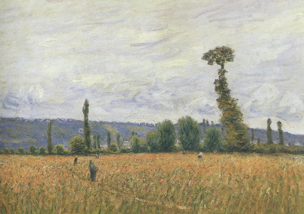 The Hills of La Bouille, Oil On Canvas by Alfred Sisley (1839-1899, France)