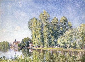 Alfred Sisley - The Loing at Moret 1