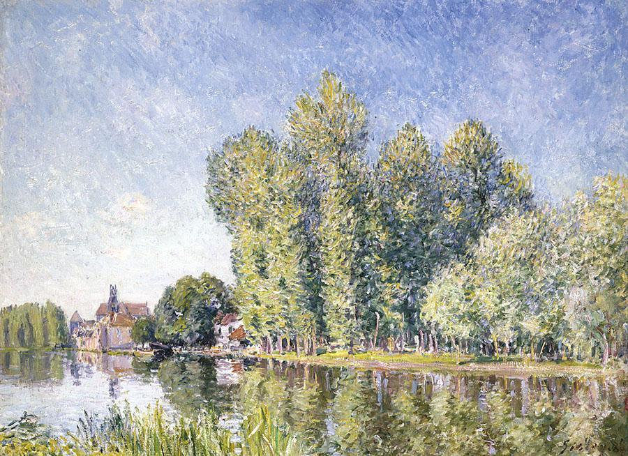 The Loing at Moret 1 by Alfred Sisley (1839-1899, France) | Painting Copy | WahooArt.com