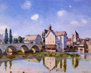 Alfred Sisley - The Moret Bridge in the Sunlight