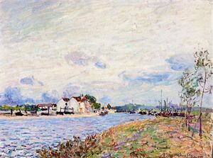 Alfred Sisley - The Mouth of the Loing at Saint Mammes