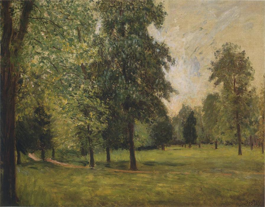 The Park at Sevres, 1877 by Alfred Sisley (1839-1899, France) | Museum Quality Reproductions | WahooArt.com
