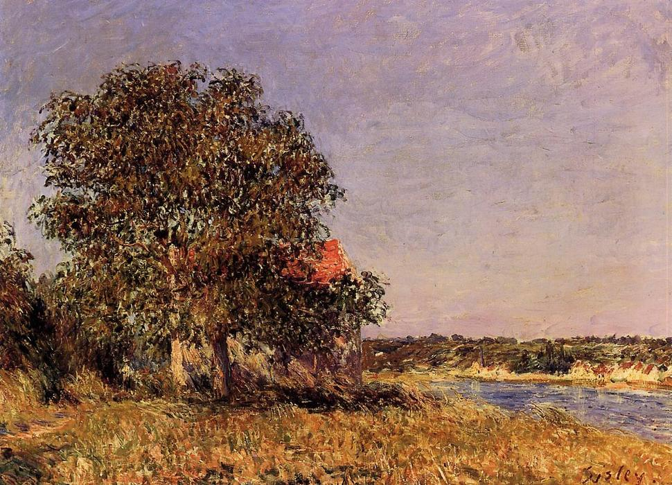 The Plain of Thomery and the Village of Champagne, 1882 by Alfred Sisley (1839-1899, France) | Museum Quality Reproductions | WahooArt.com