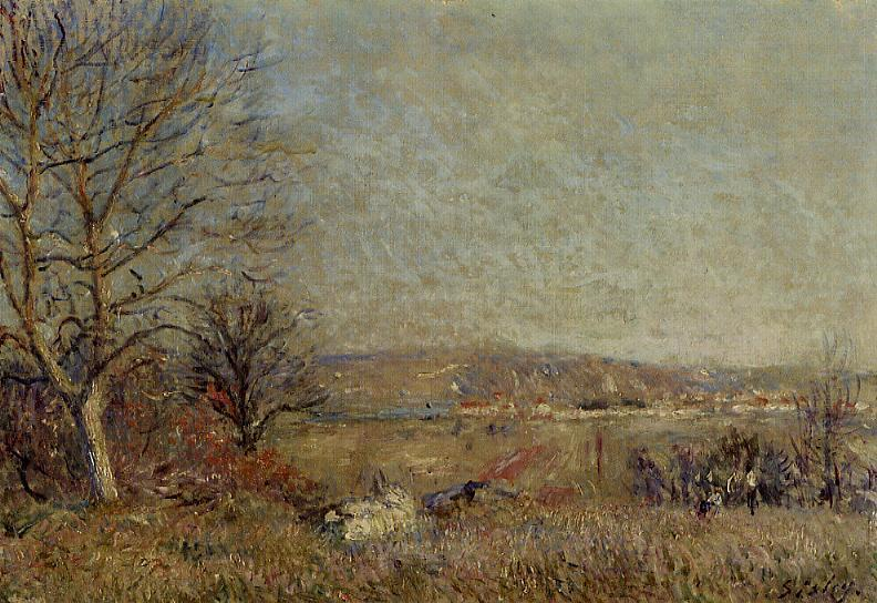 The Plain of Veneux, View of Sablons, Oil On Canvas by Alfred Sisley (1839-1899, France)