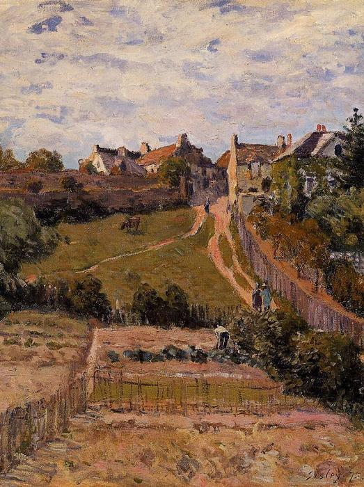 The Rising Path, 1875 by Alfred Sisley (1839-1899, France) | Art Reproductions Alfred Sisley | WahooArt.com