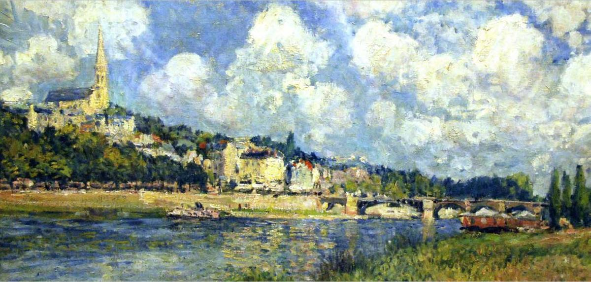 The River at Saint Cloud by Alfred Sisley (1839-1899, France) | Art Reproduction | WahooArt.com