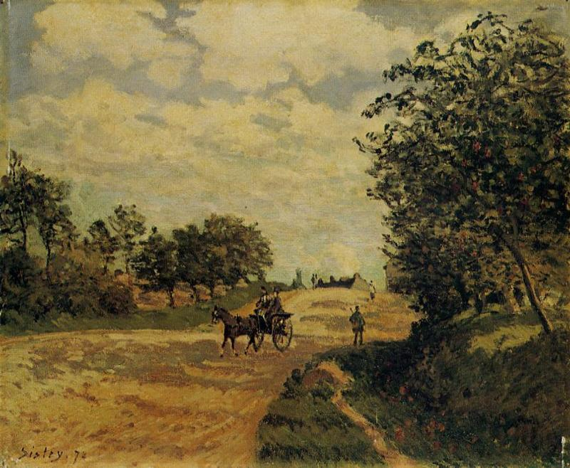 The Road from Mantes to Choisy le Roi, Oil On Canvas by Alfred Sisley (1839-1899, France)