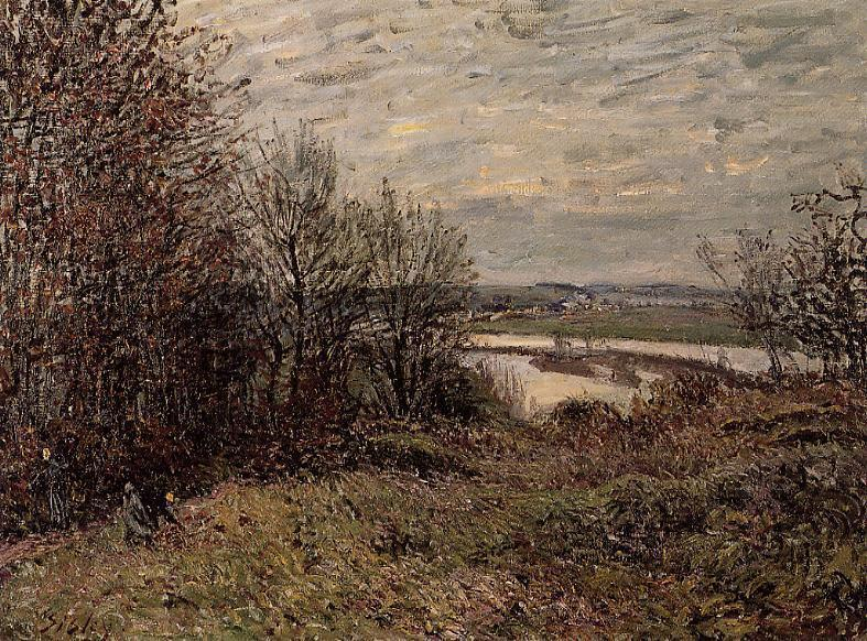 The Roches Courtaut Wood, near By, 1880 by Alfred Sisley (1839-1899, France) | Museum Quality Reproductions | WahooArt.com